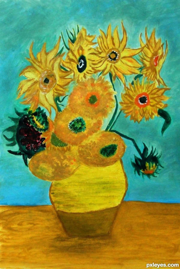 Twelve_Sunflowers