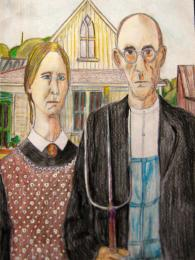 American Gothic - Grant Wood Picture