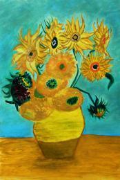 Twelve_Sunflowers