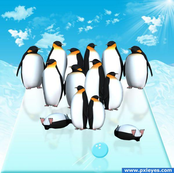 Photoshop Guide The Making Of Penguin Bowling