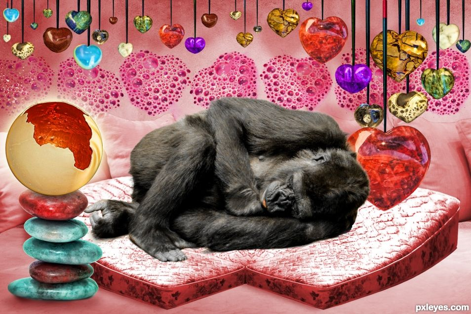 Gorilla Heart Sleep Bed