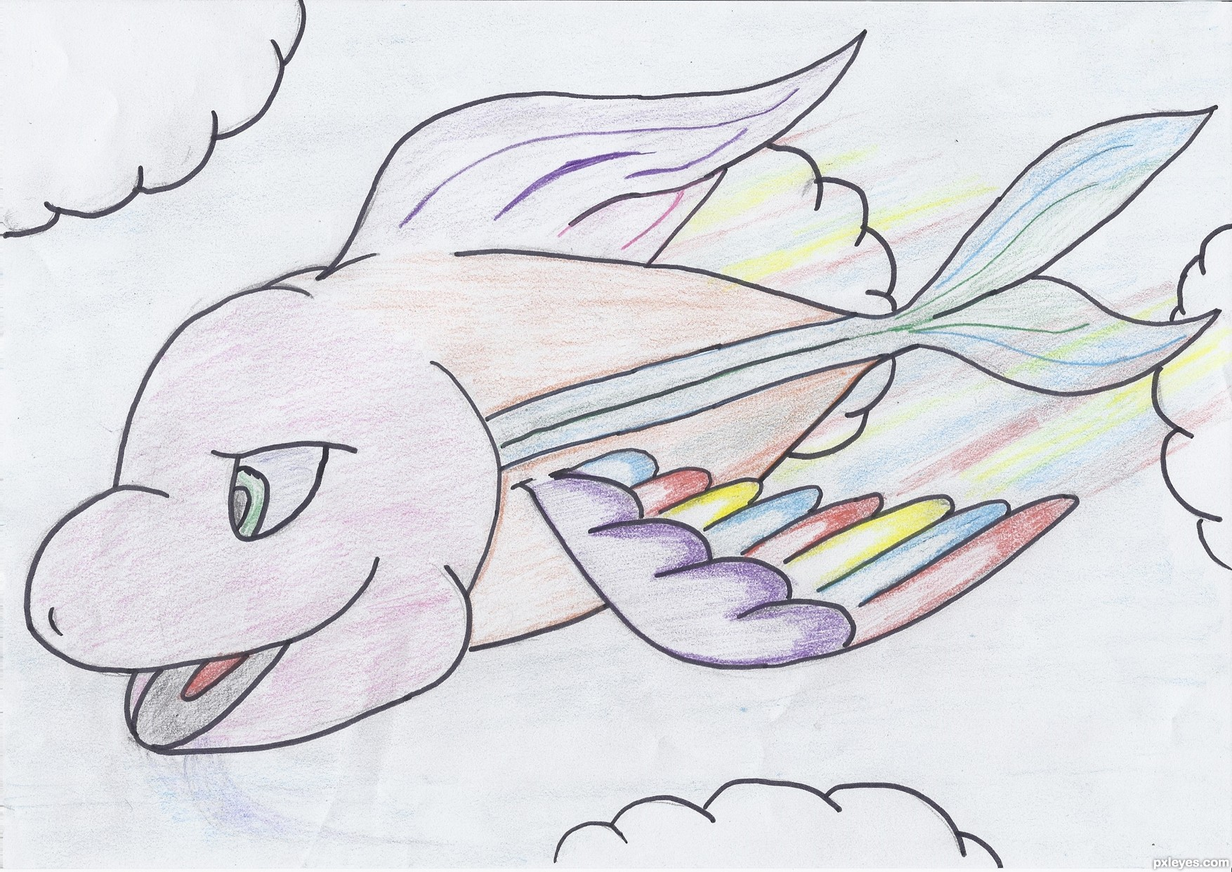 Fantasy fish td drawing contest 17423 pictures page 1 for Flying fish drawing