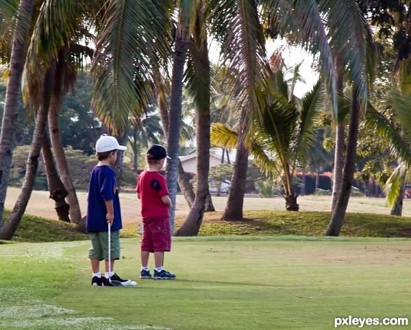 Golf, is like measles,