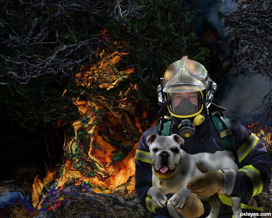 Rescued by a hero firefighter