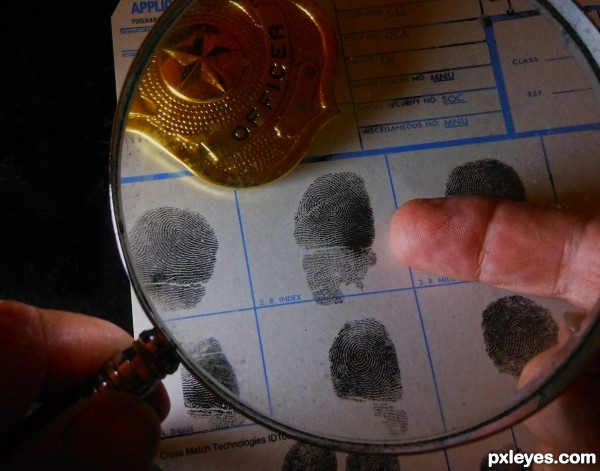 Scarred fingerprint