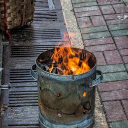 Burningrubbishorkeepingwarm