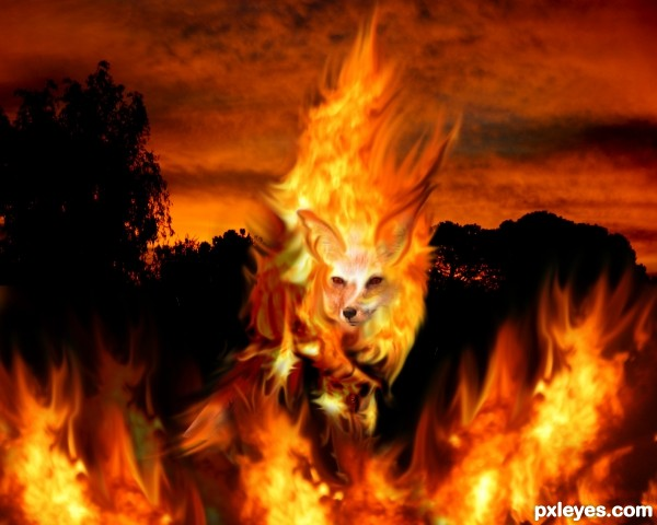 FireFox Picture, By Chakra1985 For: Fire Animals Photoshop