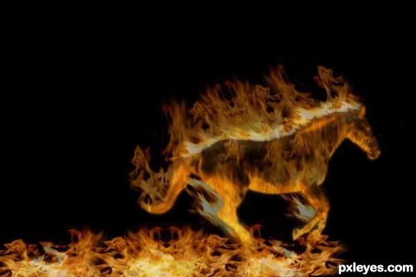 Flaming Horse!