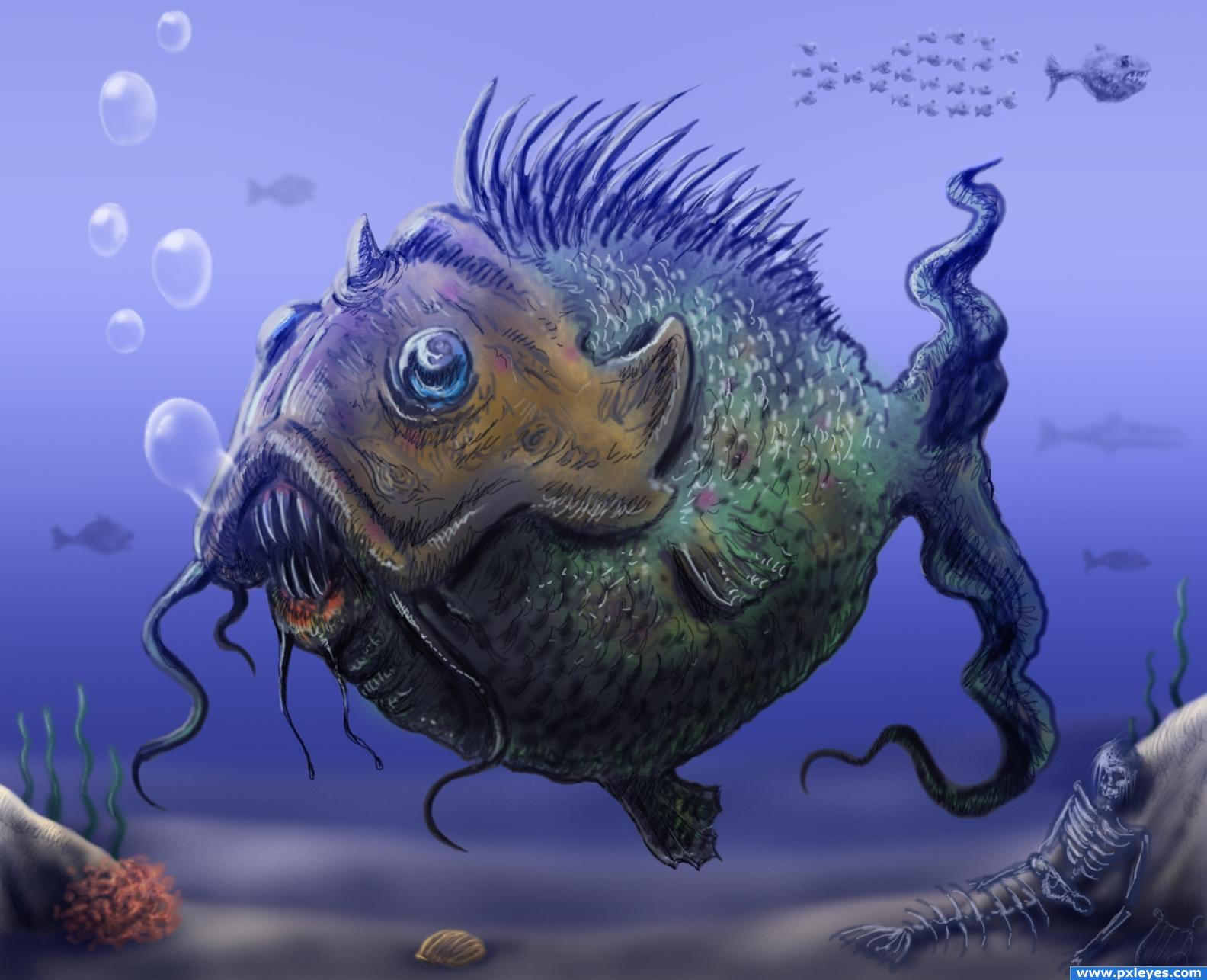 Ugly fish picture by krigios for fish drawing contest for Ugly fish pictures