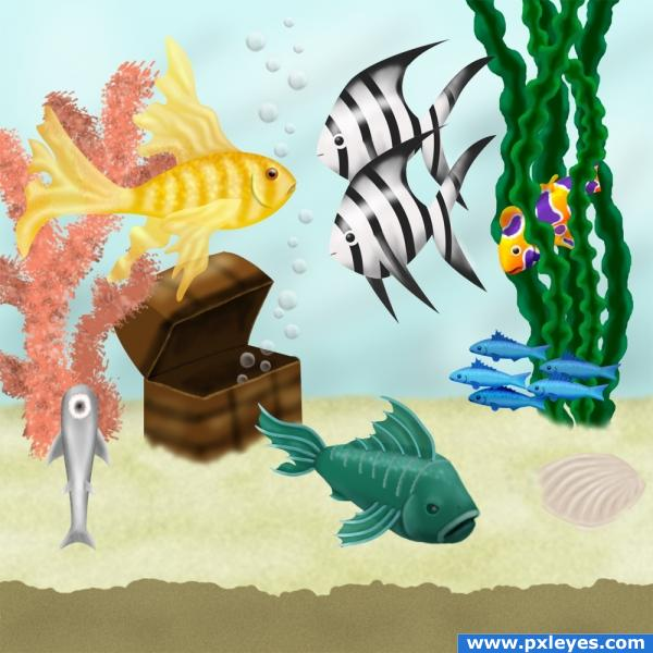 Fish Tank picture, by IDt8r for: fish drawing contest Pxleyes.com