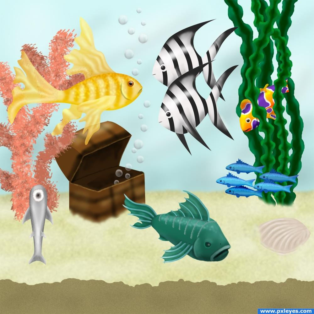 Fish Tank Picture, By IDt8r For: Fish Drawing Contest