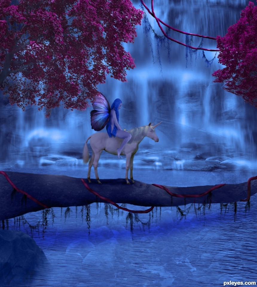 tranquility in blue photoshop picture)