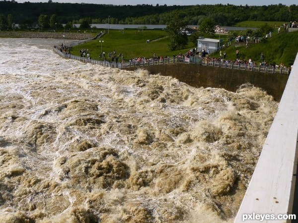 Flooded dam