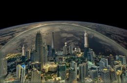 City above the Earth