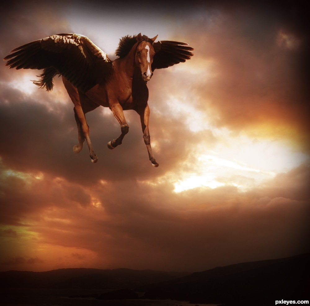 Flying Horse picture, by nasirkhan for: flying creatures ...