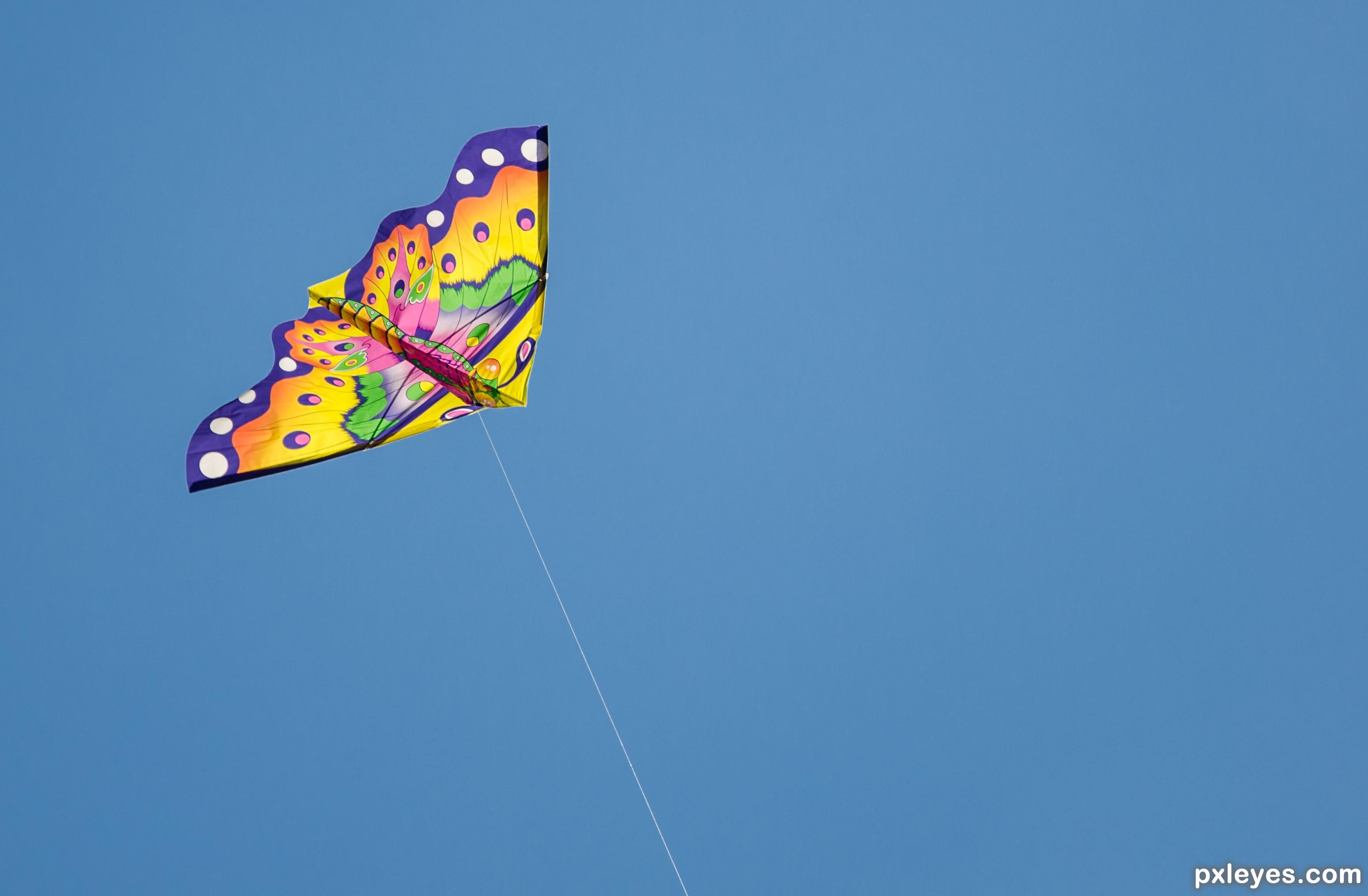 Tetrahedral Kite Flying
