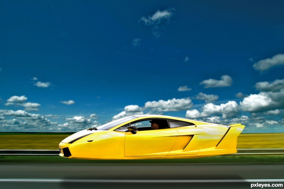 Low Flying Lamborghini Picture By Lchappell For Flying Car