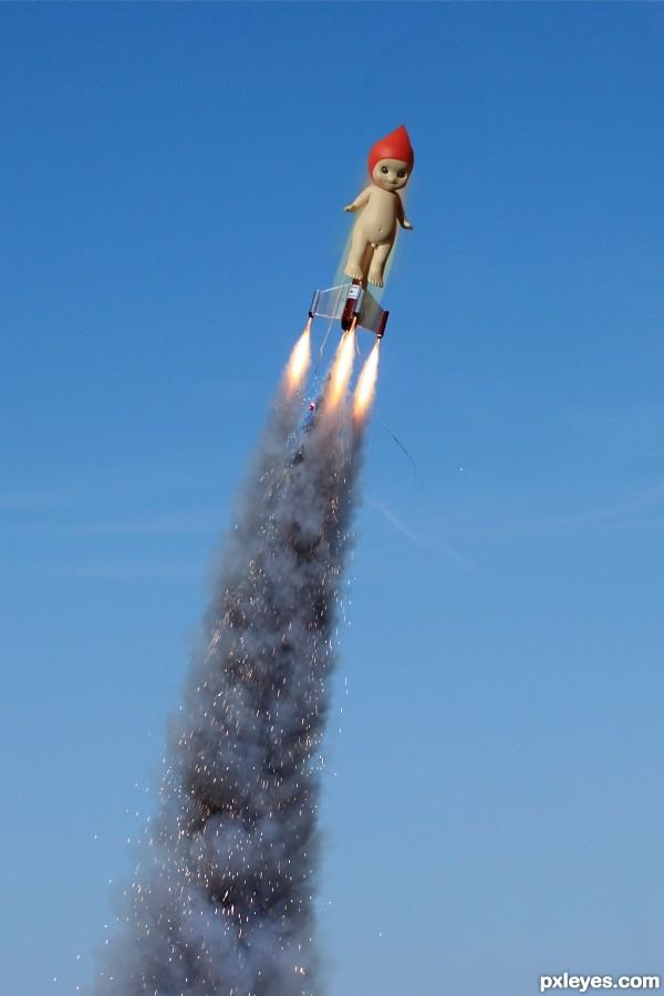 Rocket Nekkid as a Cupie Doll