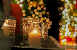 Candles & Christmas Lights