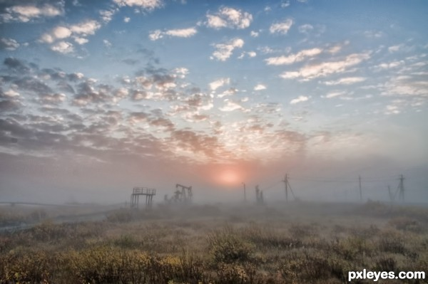Oilfield sunrise