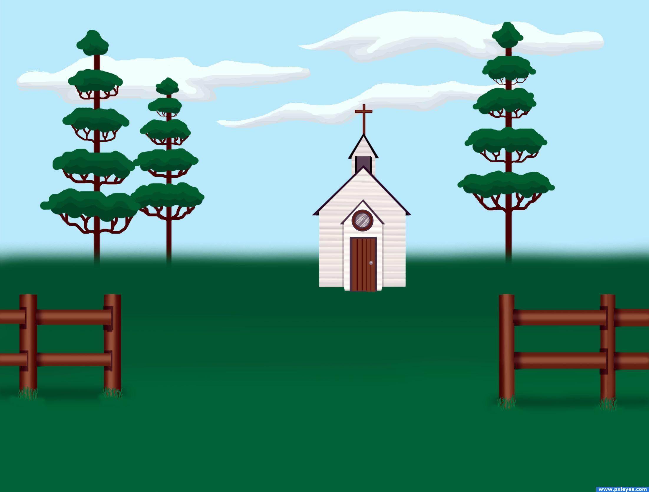 Country Church Picture By Tapiona For Folk Art Drawing Contest