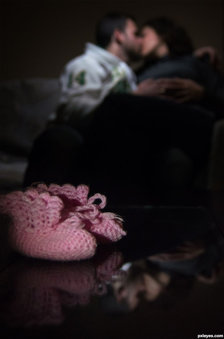 Mini shoes of unborn girl