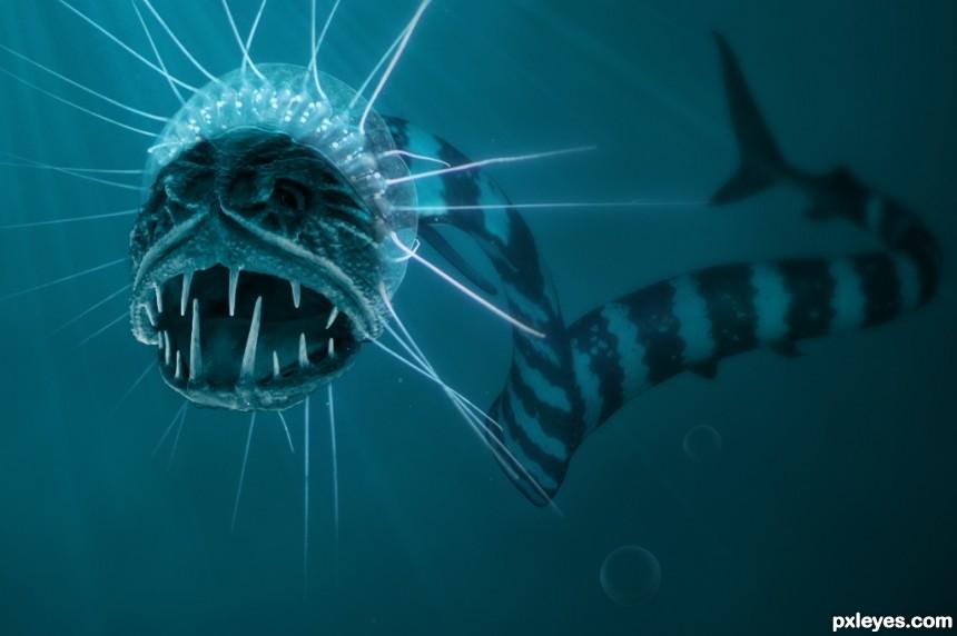 ocean creature photoshop picture)