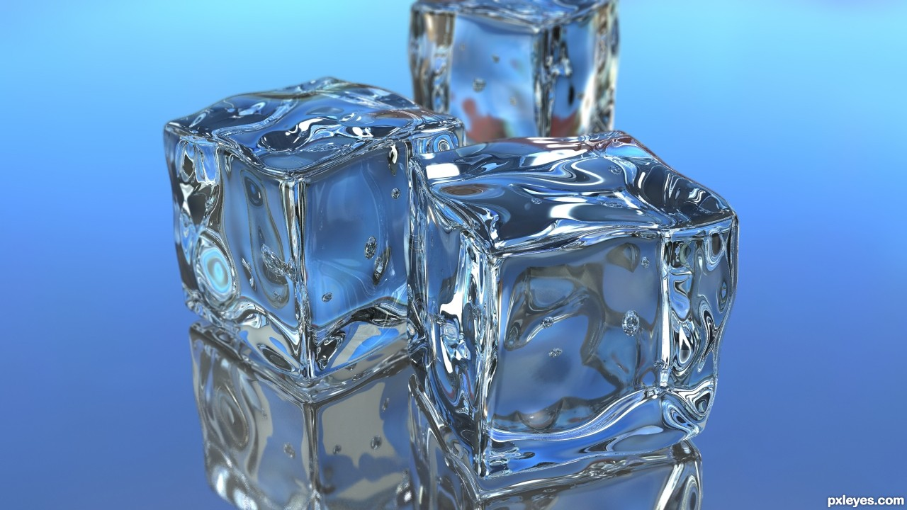 Ice cubes picture by palaekman for four elements 3d contest pxleyes com