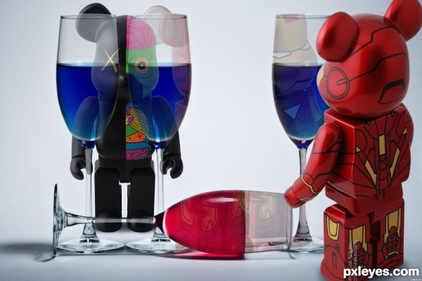 toys with wine glasses
