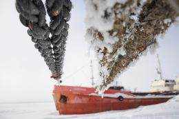 Rope, Ship, Snow Picture