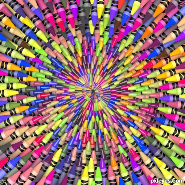 Fractal of many colors