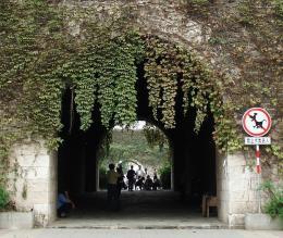Through city gate