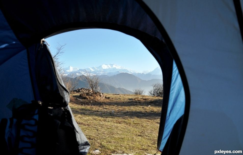 Mt.Kanchenjangha from my tent