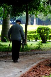 Old man walking..
