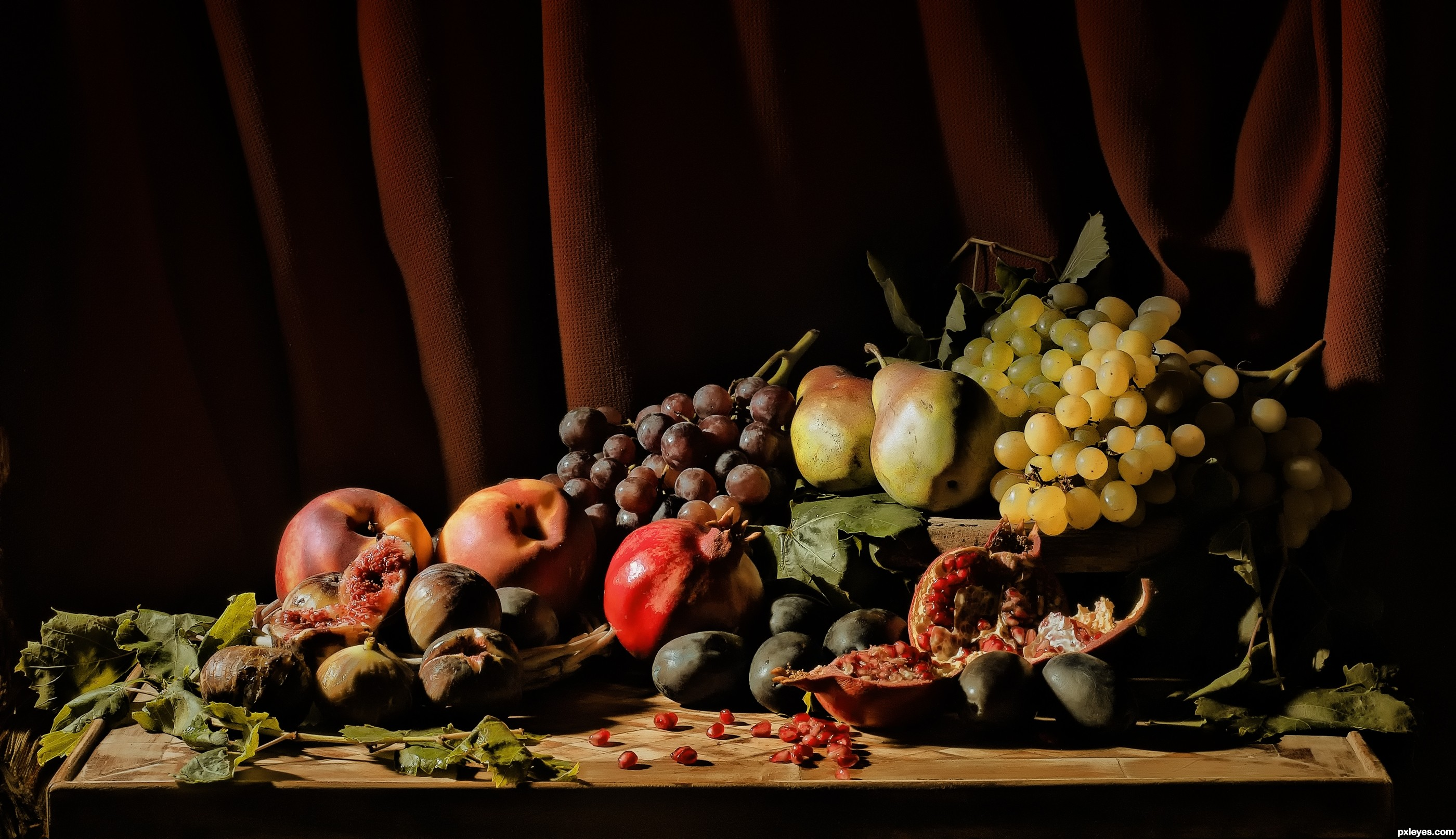 Stilllife paintings often adorn the interior of ancient Egyptian tombs It was believed that food objects and other items depicted there would in the afterlife