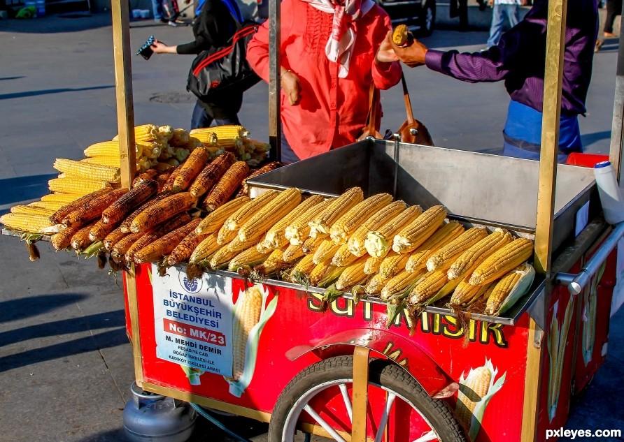 Selling an ear of corn