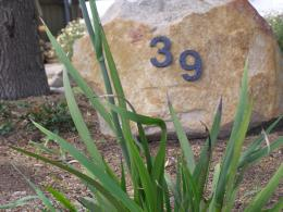 House number ornament