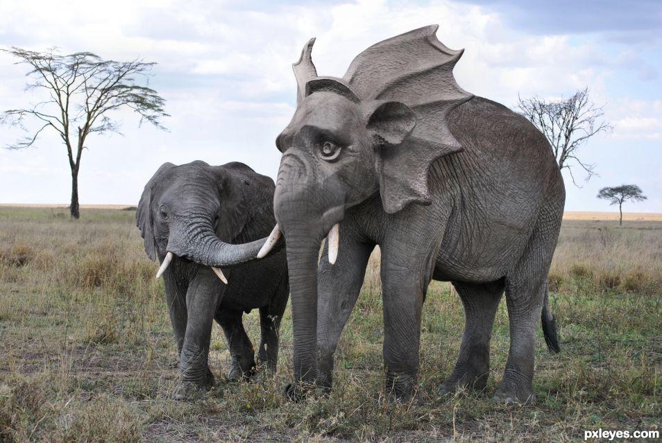 Elephant gargoyle