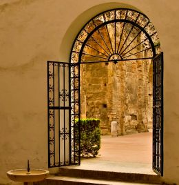 Gate Into the courtyard