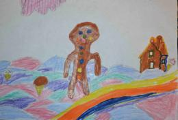 Happy gingerbread man Picture