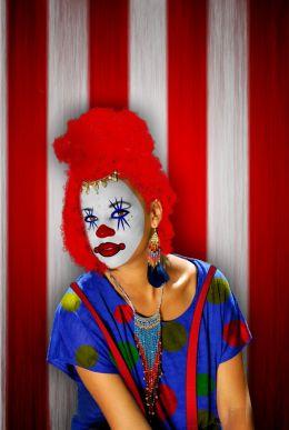 clowny look