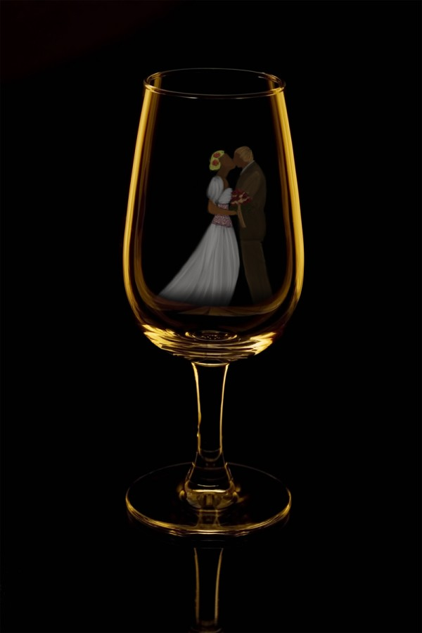 Married Bliss in a Glass