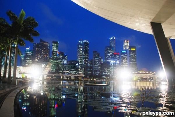 low night cityscape