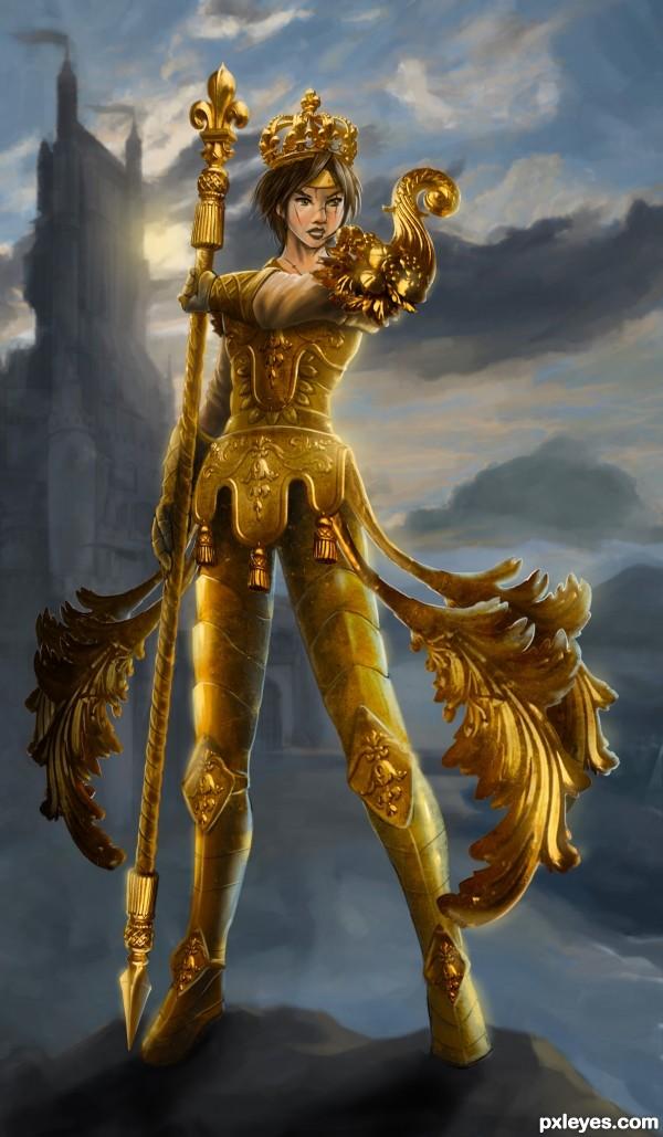 The Sacred Golden Warrior