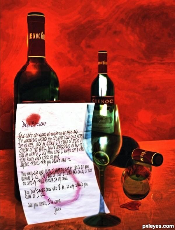 Three Bottles of Libation