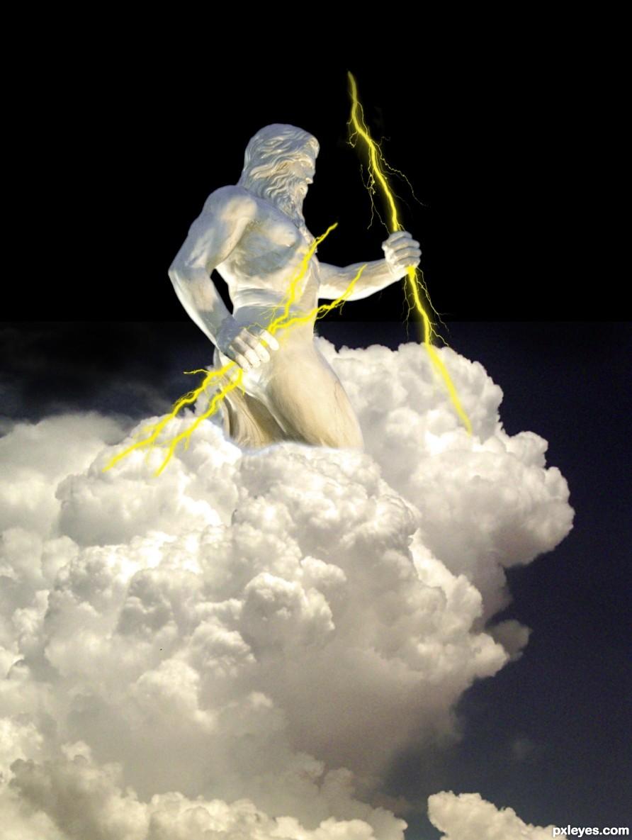 Zeus casting thunderbolt
