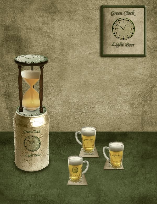 Green Clock Light Beer