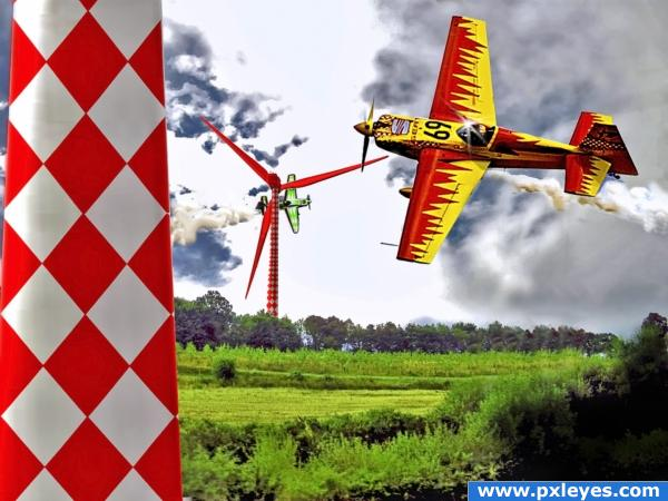 Wind Turbine Air Race