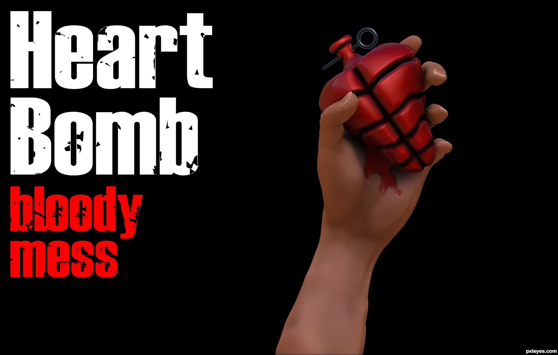 Green Day Heart Logo Heart bomb - created by
