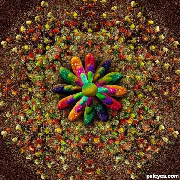 Creation of Gumdrop Flowers: Final Result